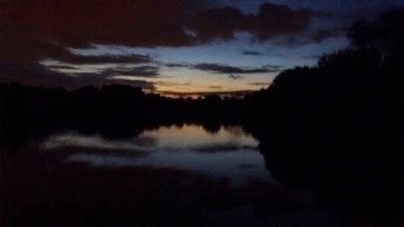 lake at night