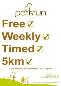 Gungahlin parkrun flyer